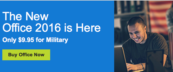 Microsoft Makes Office 2016 Available to Service Members for $9.95